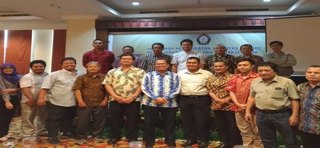 """Workshop dengan tema """"Peningkatan Kualitas Metode Pengajaran Efektif dan Motivasi Kerja Departemen Teknik Geodesi Fakultas Teknik Universitas Diponegoro"""""""